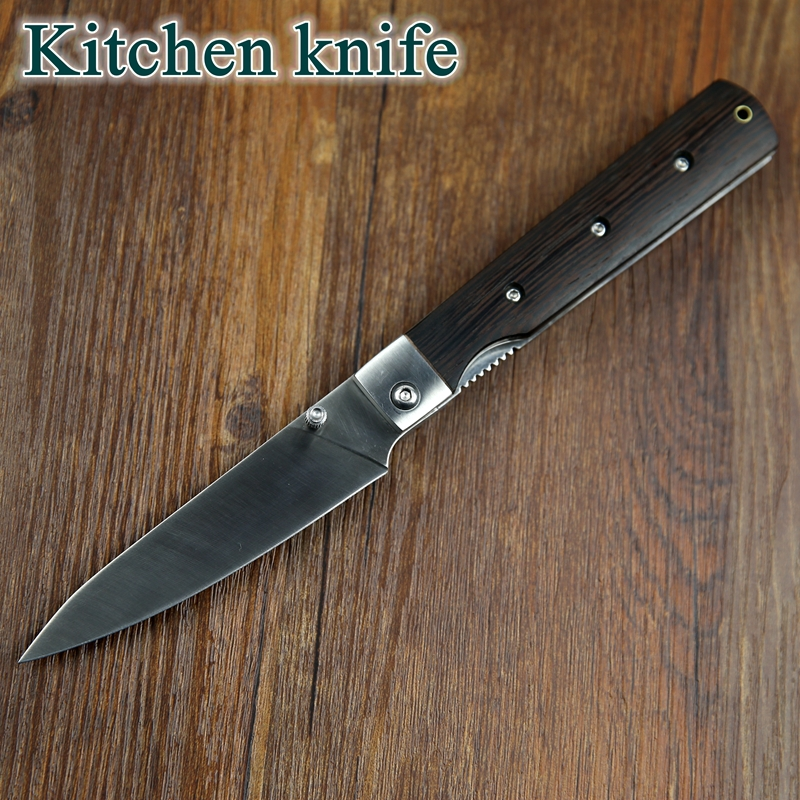 Charming 2015 FOSTFREI 440 Pocket Folding Kitchen Chef Knife High Quality Dark  Tagayasan Wood Good Camping Outdoor Cooking Very Sharp EDC In Kitchen Knives  From Home ...