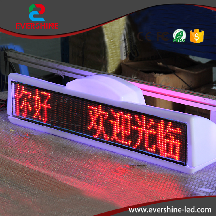 Double Sided GPRS Control Taxi LED Taxi Roof Advertising Sign outdoor p6 single red