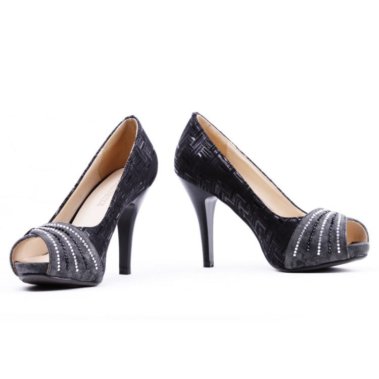 6116aa81c090 Women and Ladies Elegant Peep Toe Diamante peep toes High Heels Pumps Court  Party Sandals Shoes  A049-in Women s Pumps from Shoes on Aliexpress.com ...