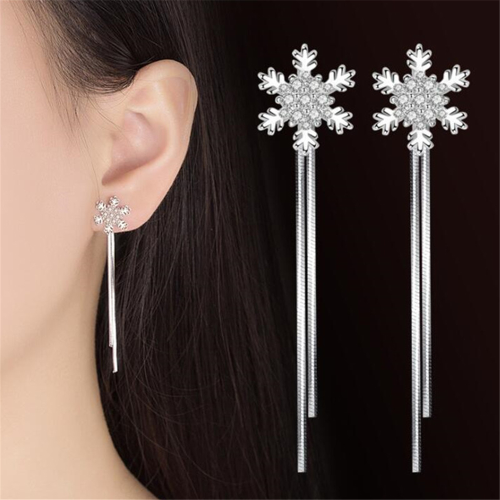 NEHZY 925 sterling silver new Jewelry New Woman fashion snowflake hanging style exaggerated in the long female Drop Earrings
