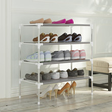 DIY Non-Woven Fabric Storage Shoe Rack Hallway Cabinet Organizer Holder Removable Door Shoe Storage Shelf Home Furniture