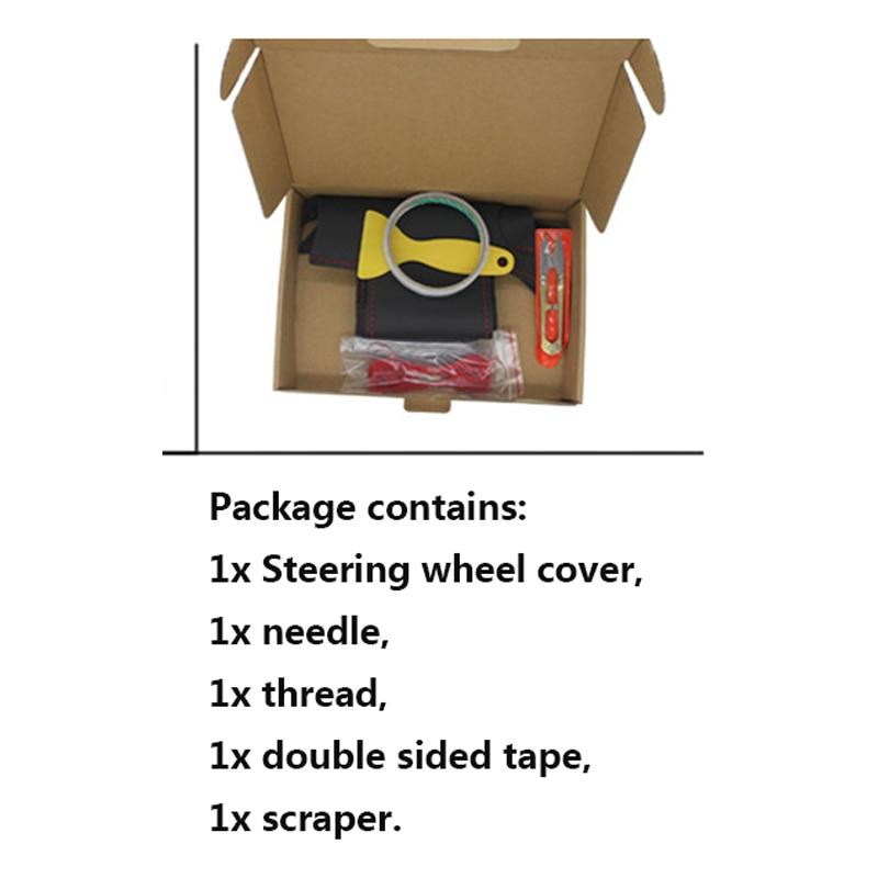 Svart läder Rattkåpa för Nissan Almera N16 Pathfinder Primera - Bil interiör tillbehör - Foto 4