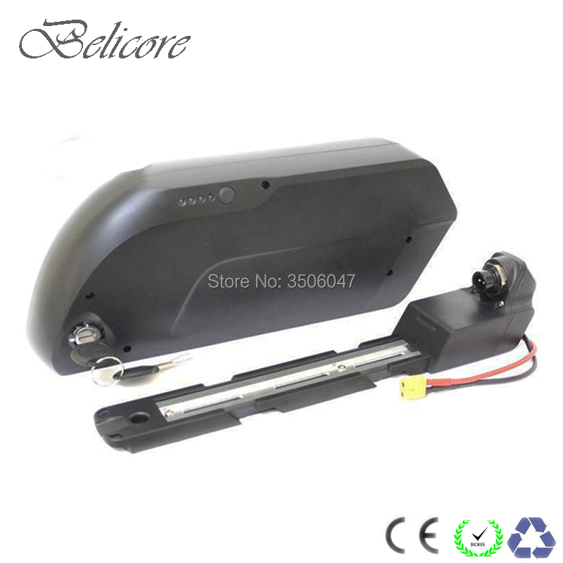 Electric bicycle shark frame case 48V 10.4ah 11ah 12ah 13ah 15ah 16ah 17.5ah E bike battery for 8fun 500w 750w 1000w motor power Electric Bicycle Battery     - title=