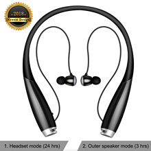 Bluetooth Headphones  V5.0 Bluetooth Neckband Headphones Call Vibrate & CVC 6.0 Noise Cancelling Mic, Wireless Cell Phone Headse