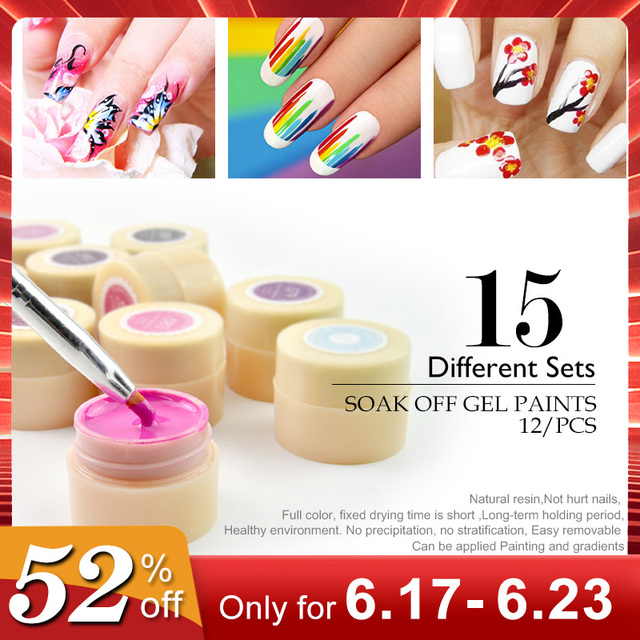 Venalisa Novo 2019 Manicure Nail Art Tips 180 Cores LED UV Soak Off Gel Laca Polonês Gel Tinta Tinta UV gel para nail art design