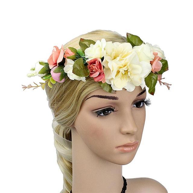 Fashion Women Girls Flower Crown Bridal Wedding Hair Wreath Floral
