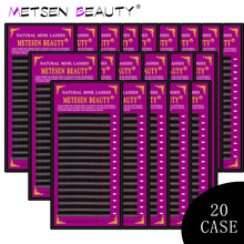 METESEN 20cases 16rows Individual Eyelash Extension Premium Real Mink Eyelashes Single 7-15mm Volume lashes