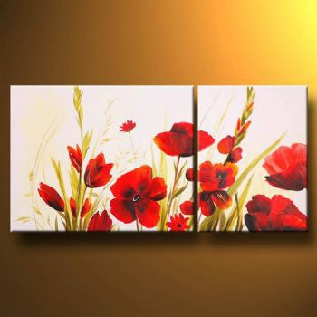 Hand painted oil painting poppies and other flowers modern oil hand painted oil painting poppies and other flowers modern oil painting on canvas art wall decor floral oil painting wall art in painting calligraphy from mightylinksfo