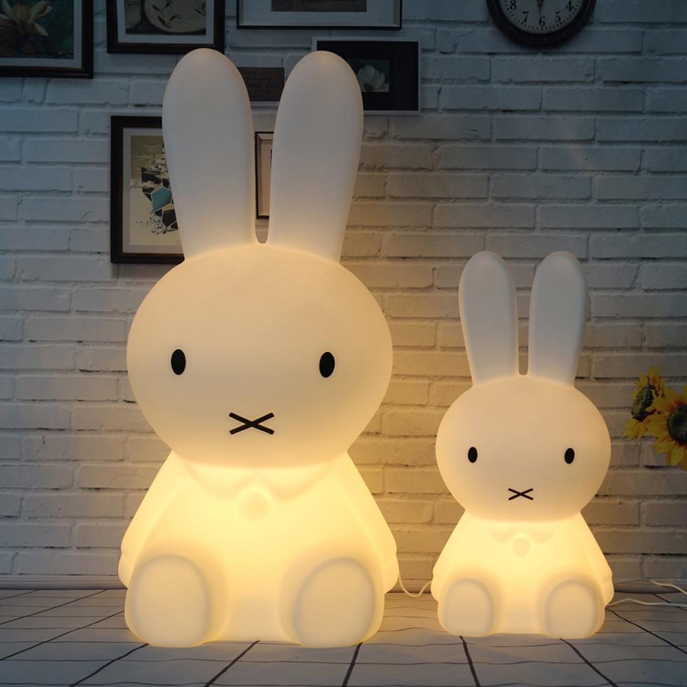 EU Plug USB Plug Rabbit LED Night Light Cartoon Animal Bedsi