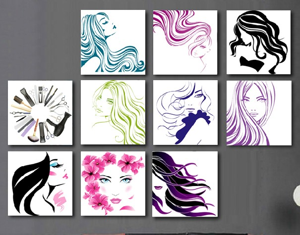 Buy abstract figures of modern beauty for Abstract beauty salon