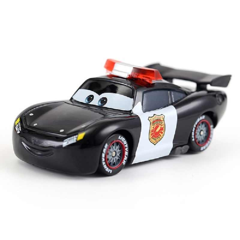 Cars Disney Pixar Cars Police Lightning McQueen Metal Diecast Toy Car 1:55 Loose Brand New In Stock Car3 Christmas Gift Toy