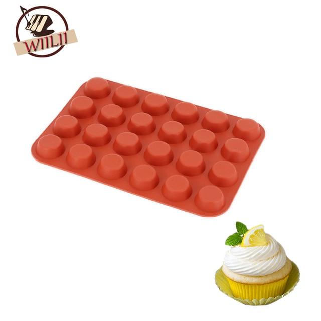 wiilii silicone 24 cavité gâteau moule pour le dessert de bonbons