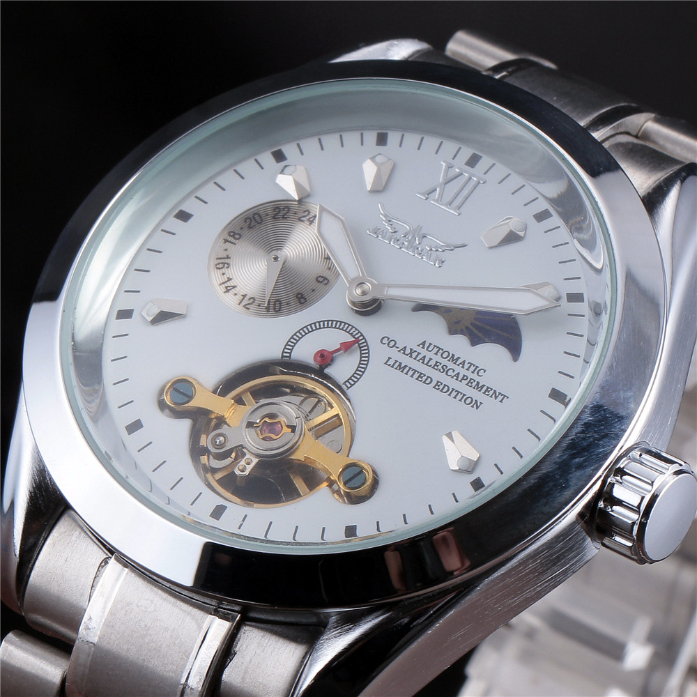 JARAGAR Casual Clock Men Automatic Skeleton Business Watch Mechanical Relogio Male Montre Watches Mens Relojes цена и фото