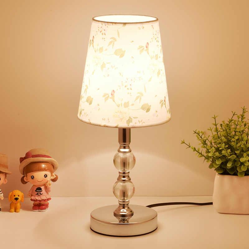 קריסטל מנורות שולחן לחדר שינה סלון LED המיטה מנורת אמנות מודרני מיטת מנורת חג המולד קישוט לאמפה דה Chevet דה chambre