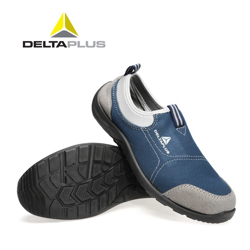 Delta Insurance Men s Summer Breathable Safety Shoess Steel Toe Caps Anti smashing Pierced Lightweight Protective