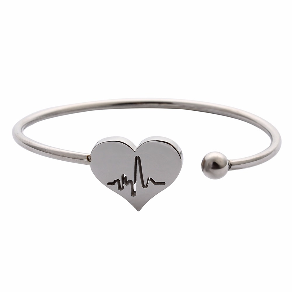 Buy silver metal wire bracelet bangles and get free shipping on ...