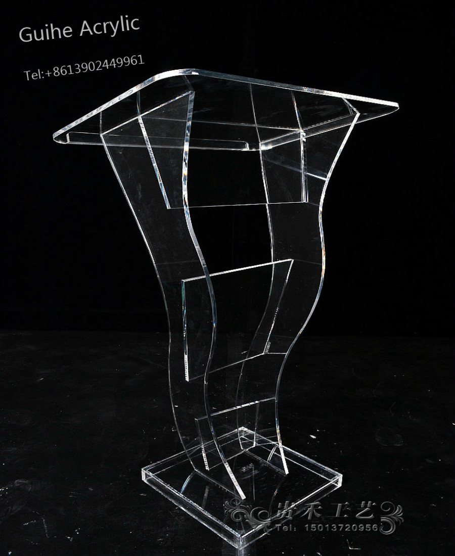 YZ-003 China Manufacture Clear Acrylic Podium Pulpit Lectern Table Office Table School Table hot sale free shipping customized acrylic church lectern free shipping beautiful easy cheap detachable acrylic podium pulpit