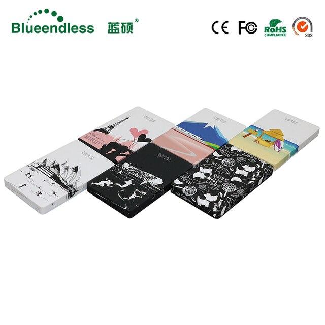 Carcasa externa Hdd Sata a usb 3,0 HDD 2,5 disco duro externo de plástico Sata carcasa hermosa HDD con 250G 500G 1 TB 2 TB