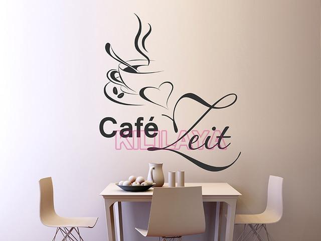Tegel Decoratie Stickers : Koffiekopje keuken muurstickers murax vinyl muursticker coffeeshop