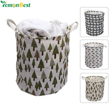 3540cm cotton fabric laundry basket hamper foldable dirty clothes organizer bag home clothing bags toy storage bag with handles