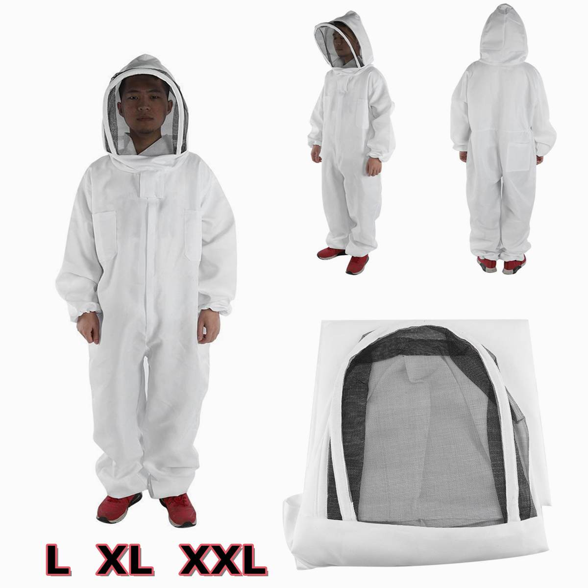 2019 New White Anti-Bee Coat Beekeeping Tools PVC Special Protective Clothing Beekeeping Suit Beekeeping Clothing Body Equipment