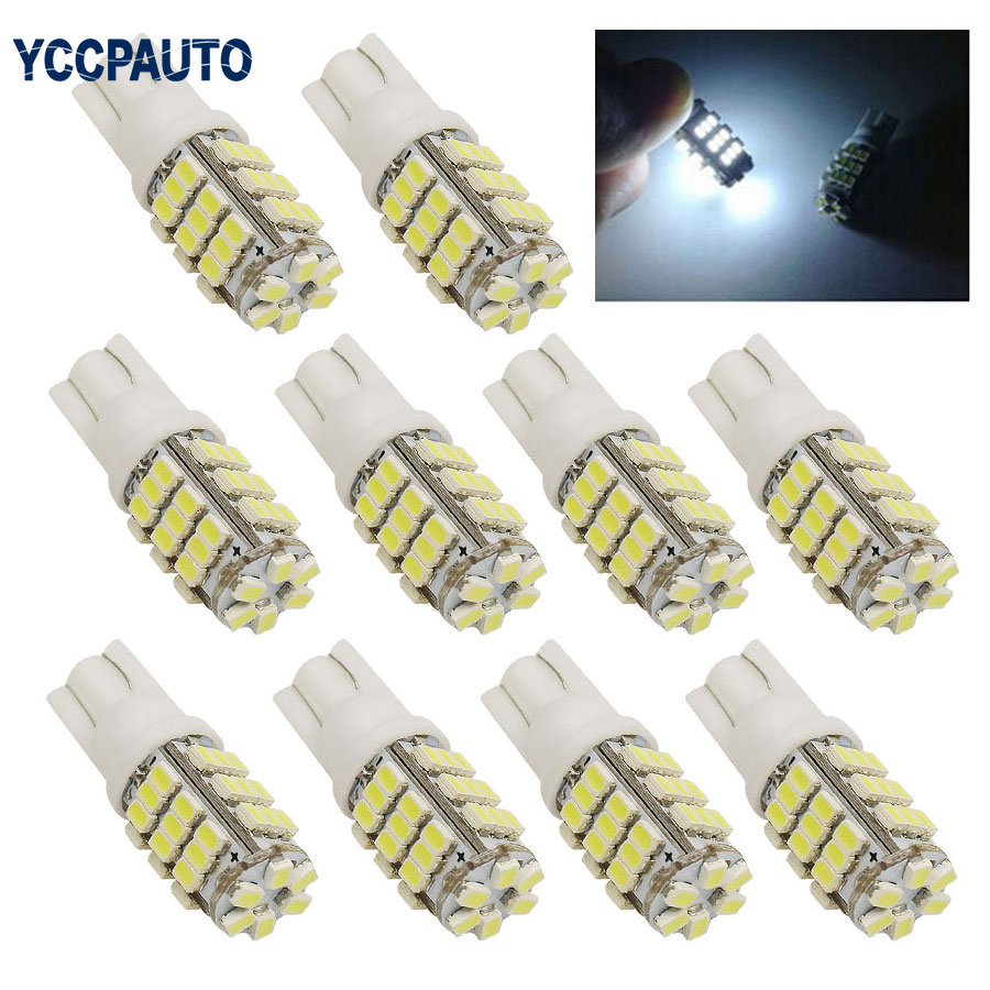 T10 Auto LED Lamps Car Side Wedge Marker Lights Turn Signals Bulb 194 927 161 168 W5W 1206 42smd 10pcs White DC12V