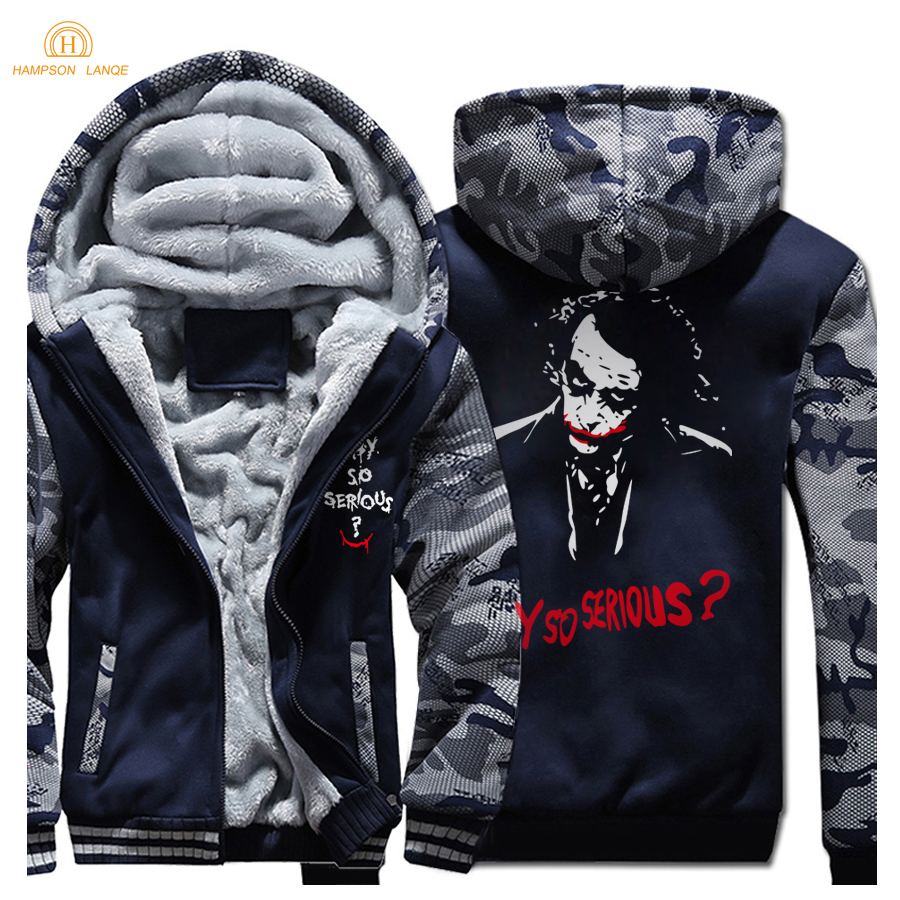 Batman 2 Joker Heath Ledger Dicken Hoodies Hip Hop Streetwear 2019 Winter Warme Fleece Sweatshirts MenTracksuit Heißen männer Jacken-in Hoodies & Sweatshirts aus Herrenbekleidung bei AliExpress - 11.11_Doppel-11Tag der Singles 1