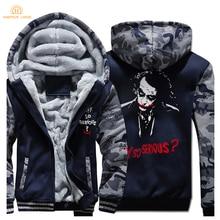Batman 2 Joker Heath Ledger Thick Hoodies Hip Hop Streetwear 2019 Winter Warm Fleece Sweatshirts MenTracksuit Hot Mens Jackets
