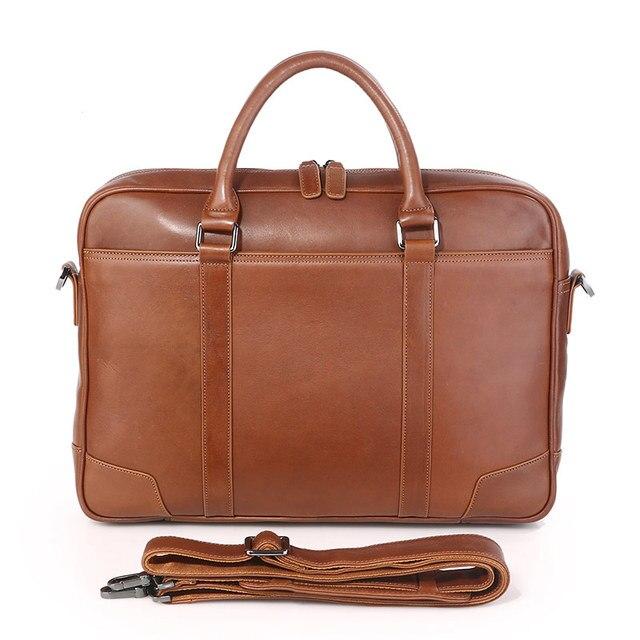 e9b490c5ef648c J. M. D100 % Echtes Leder Top Handtasche männer Laptop Tasche Braun frauen  tasche 7349B