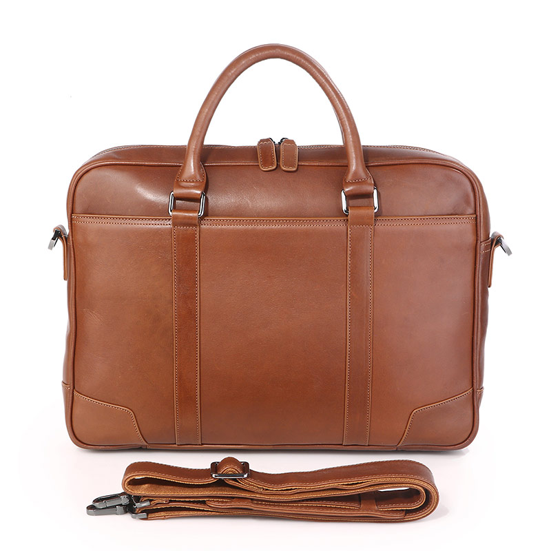 J.M.D100% Genuine Leather Top Handbag Men's Laptop Bag Brown Women's Bag 7349B