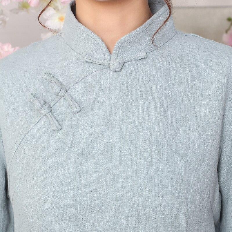 Natural USD IOW ฤดูหนาวแห่งชาติแขนยาวเสื้อจีนผู้หญิงเสื้อสีทึบ 9