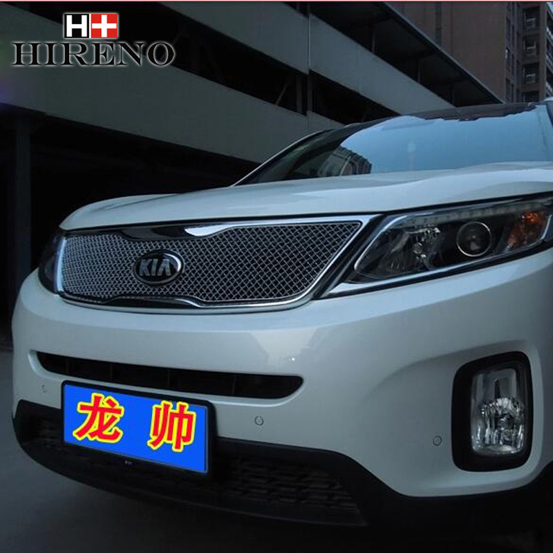 ФОТО Racing Grills for KIA Sorento 2013 Aluminum alloy car styling Refit grille air intake grid radiator car grill