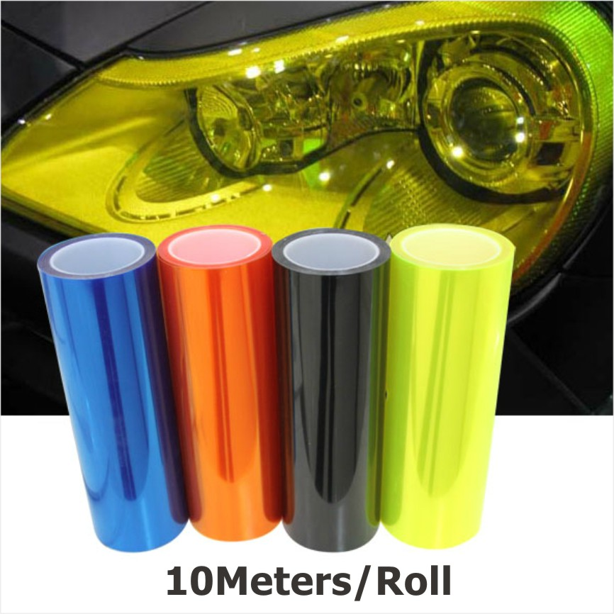 10m/Roll X30Cm Auto Car Sticker Smoke Fog Light HeadLight Taillight Tint Vinyl Film Sheet All Colors Available Car Decoration