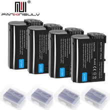4 x EN-EL15 en el15 digital battery for Nikon D7000 SLR camera battery D7200 D7100 D7500 D610 D750 D810 D850 Z7 Z6 D500 Tracking quick release l plate bracket 1 4 screw mount for nikon d7500 d7200 d5600 d850 d810a d800 d750 d610 d500 d300s d90 d5 d4s d4 d3x