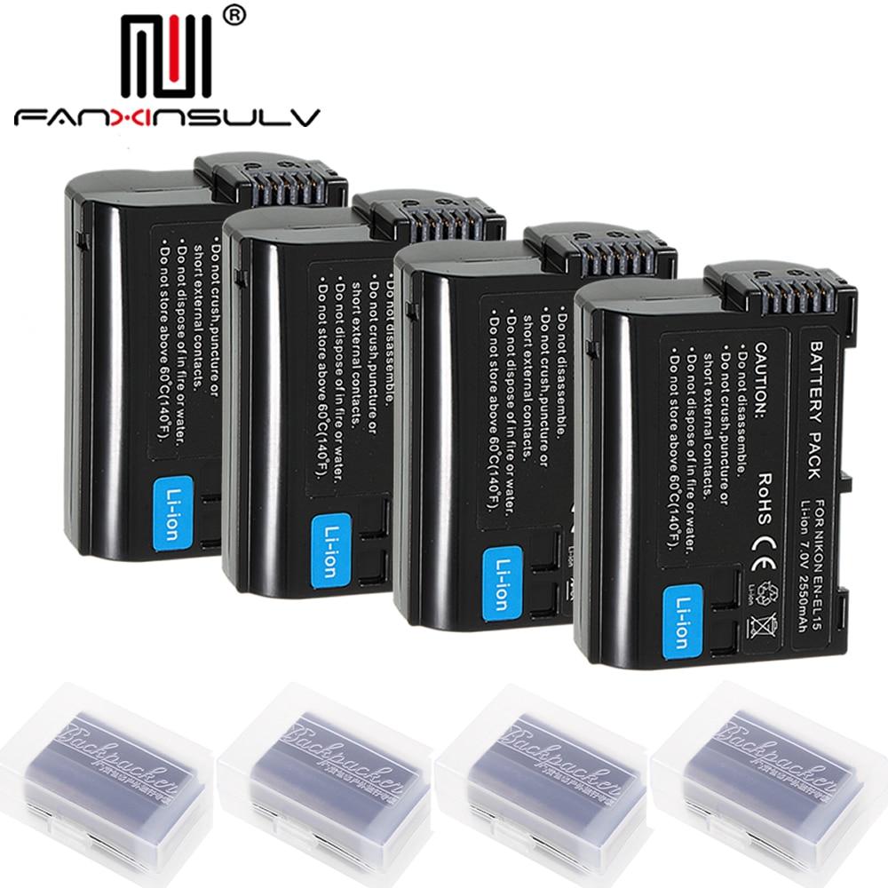 Batterien 3 X En-el15 En El15 Digital Batterie Für Nikon D7200 Slr Kamera Batterie D7000 D7100 D7500 D610 D750 D810 D850 Z6 Z7 D500 Tracking