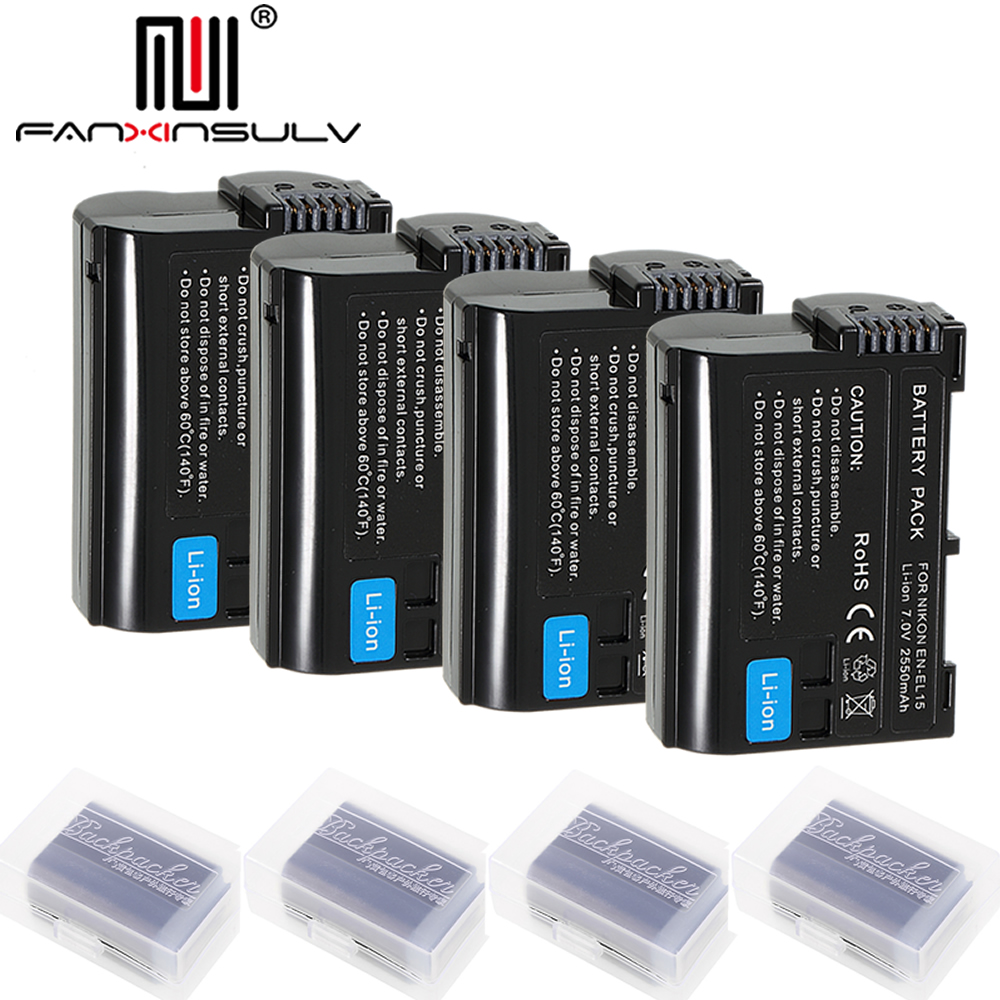 Stromquelle Unterhaltungselektronik 3 X En-el15 En El15 Digital Batterie Für Nikon D7200 Slr Kamera Batterie D7000 D7100 D7500 D610 D750 D810 D850 Z6 Z7 D500 Tracking
