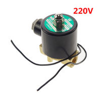 220V Water Air Oil Brass NC Electric Solenoid Valve 3 8 Inch BSPP X 1