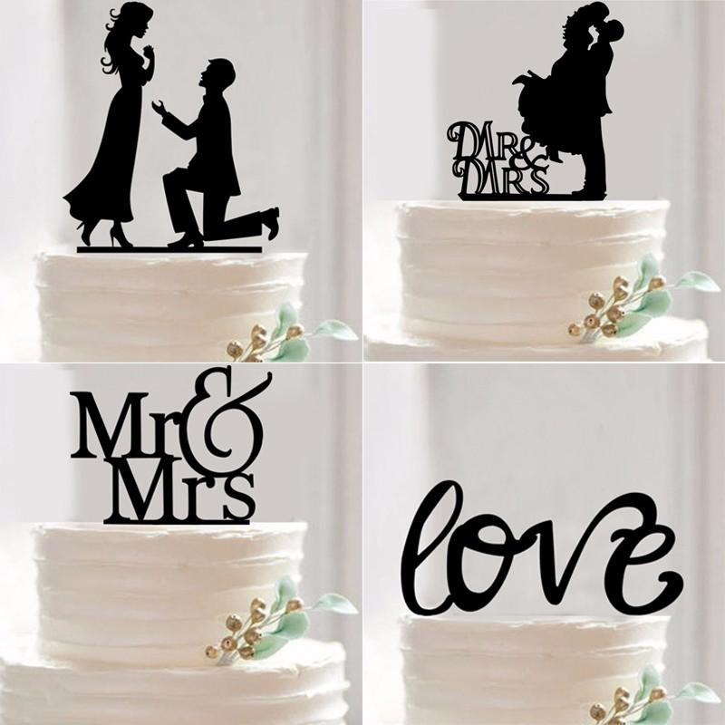 Mr Mrs Wedding Cake Topper