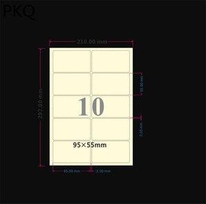 Image 2 - 50 pçs/lote A4 Rótulo Transparente Auto Etiqueta Da Etiqueta Adesiva À Prova D Água PARA ANIMAIS de ESTIMAÇÃO de Imprimir Etiquetas de Endereçamento para Impressoras A Laser