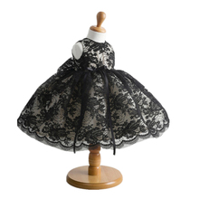 BBWOWLIN Noble Black Lace Baby Girls Ball Gown Dress for 0 2 Years Infantis Flower Girl