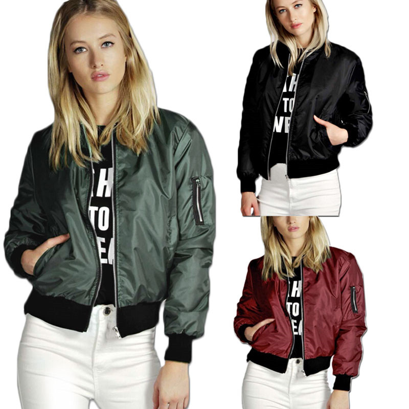 Plus Size 3XL Windbreaker Women   Jacket   New Solid Coats Long Sleeve   Basic     Jackets   Bomber Thin Ladies   Jacket   Spring Autumn Outwear