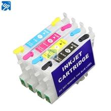 T0611 T0612 T0613 T0614 заправляемые чернильные картриджи для принтеров Epson D68 D88 DX3800 DX3850 DX4800 DX4850 принтер с микросхемами Arc