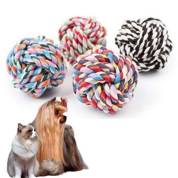 Giocattoli del cane Puppy Chew Dentizione Corda di Cotone Nodo Giocattoli Pulizia Dei Denti Pet Giocare A Palla di Formazione Outdoor Giocattolo Interattivo