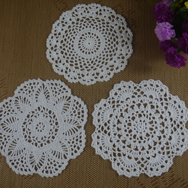 Hecho a mano Tapetes de Ganchillo patrones Ronda 17 20 cm Wallpaper ...
