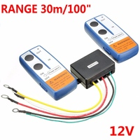 100 Feet Universal Car Wireless Winch Crane Remote Control Controller With Twin Handset Two Matched Transmitters