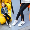 TUTUYU Girls Stretch Pants Children Clothing Girls Legging Jeans Pants Capris Baby Pencil Pants Trousers Black