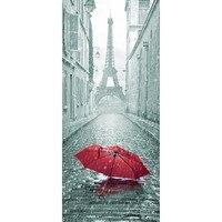 3D Door Sticker DIY Mural Imitation Paris Eiffel Tower Waterproof Self Adhesive Door Stickers Bedroom Home