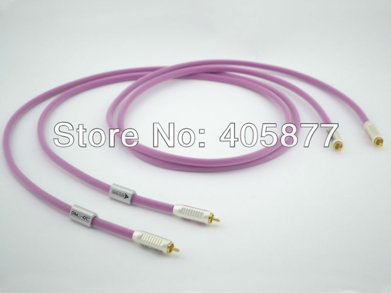 1M HTP1 Pro Audio Cable RCA interconnect cable audio digital cable connected seamed half sleeves flared ponte dress eggplant 6