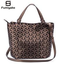 Fashion Women Shoulder Bags Bucket Bag Geometic Sequins Mirr