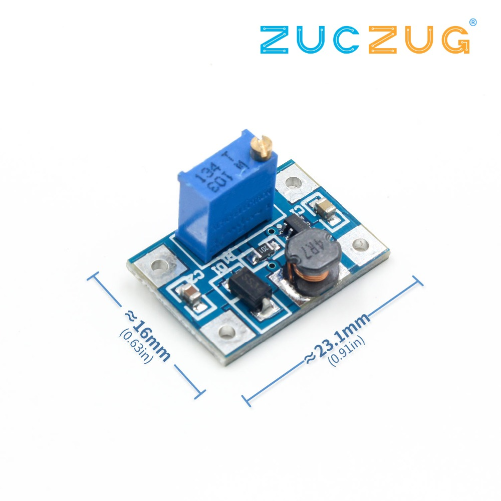 DC-DC SX1308 Step-UP Adjustable Power Module Step Up Boost Converter 2-24V To 2-28V 2A